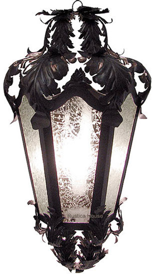 rustic tin chandelier