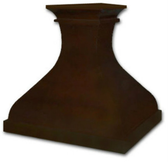 large copper kitchen hood