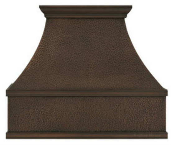 hand hammered copper stove hood