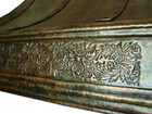 wall island copper range hood apron design