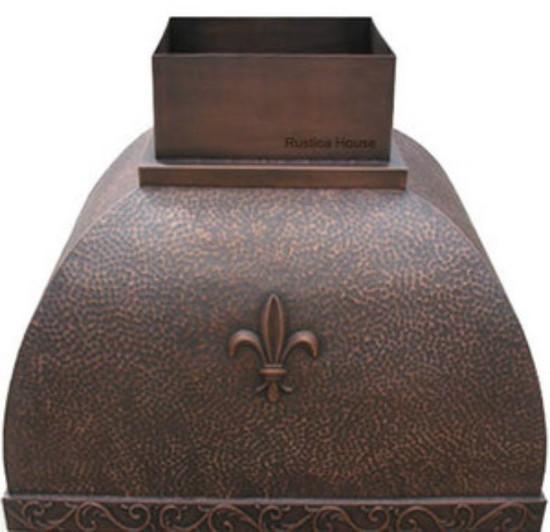 french copper range hood