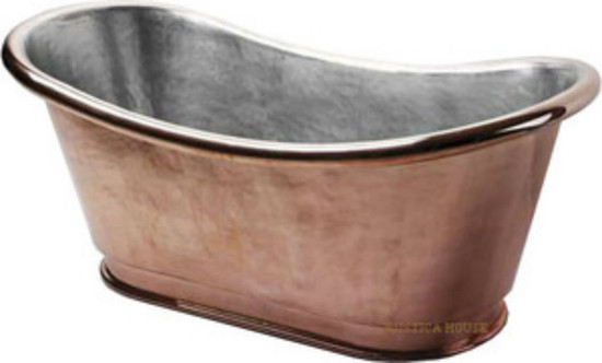nickel-platted copper tub