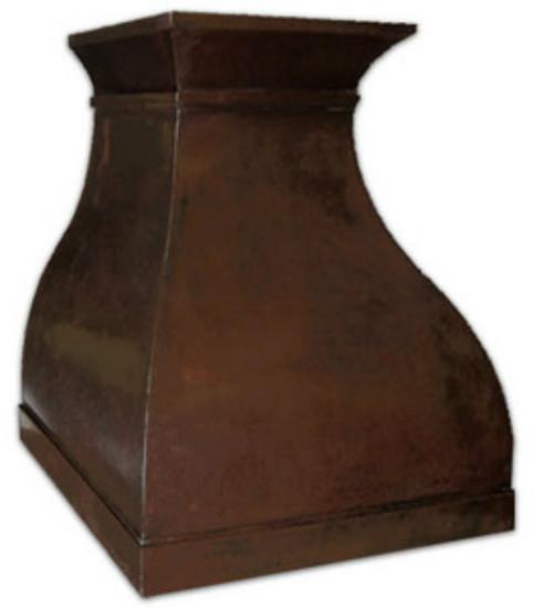 handcrafted copper range hood