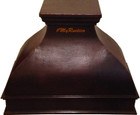wall metal copper range hood