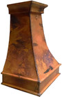 side view of colonial copper vent hood