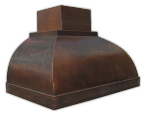 decorative copper kitchen range hood