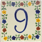 tile plaque number 9
