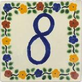 tile plaque number 8