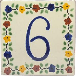 tile plaque number 6