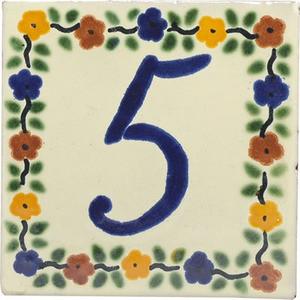 tile plaque number 5