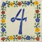 tile plaque number 4