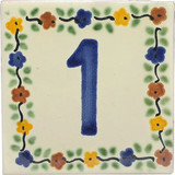 tile plaque number 1