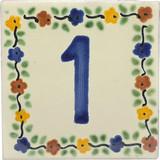 tile plaque number 1