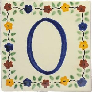 tile plaque number 0