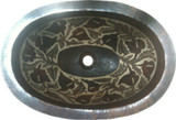 rustic copper bathroom sink from mexico