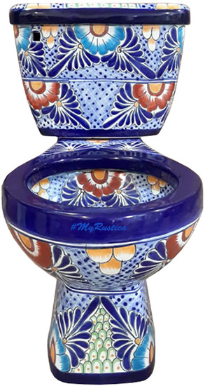 mexican hand crafted toilet