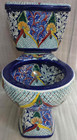 mexican toilet made of hand painted ceramic