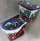 painted mexican colonial toilet
