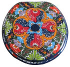 mexican toilet seat painted