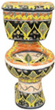 handcrafted mexican toilet