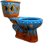 painted mexican classic toilet