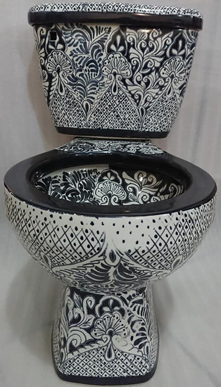 mexican toilet painted black