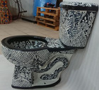 black and white painted toilet from Mexico