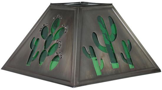 folk art tin lamp shade