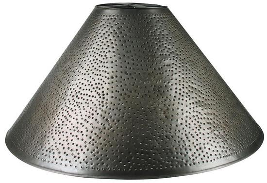 old world tin lamp shade
