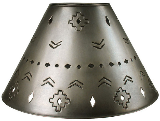 Moorish tin lamp shade