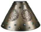 Spanish tin lamp shade