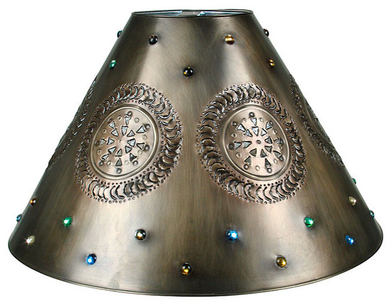 Spanish tin lamp shade