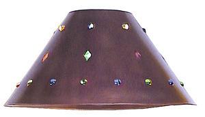 hand made tin lamp shade