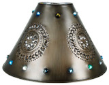 handcrafted tin lamp shade