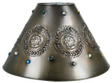 artisan made tin lamp shade