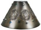 artisan made tin lamp shade