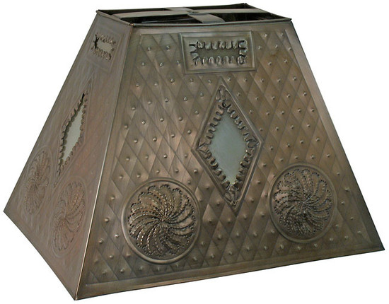 custom hand made tin lamp shade