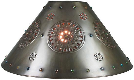 custom handmade tin lamp shade