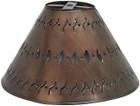 custom hand crafted tin lamp shade