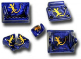 cobalt yellow ceramic bath accessory set