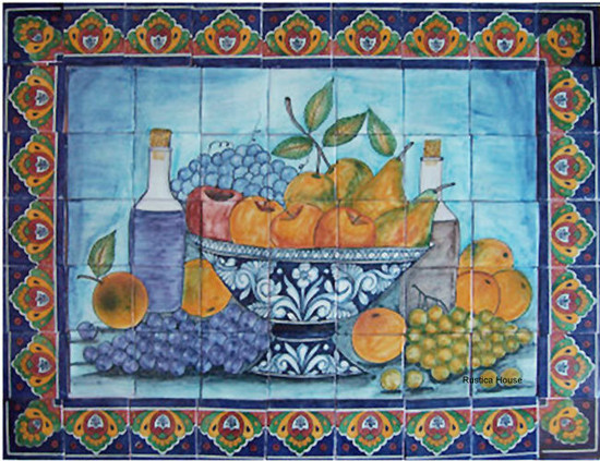 kitchen tile mural
