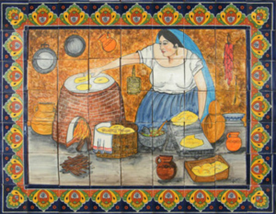 mexican ceramic tile mural