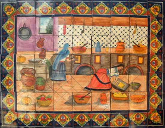 decorative ceramic tile mural
