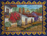 Mexican kitchen backsplash tile mural