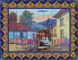 beautiful shower tile mural