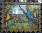decorative shower tile mural