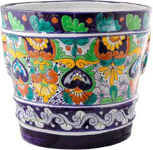 custom made yellow brown flower pot