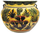 southern talavera flower planter red green