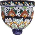 artisan made talavera sconce yellow green