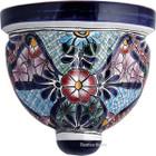 decorative talavera sconce blue white